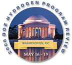 Logo for the 2006 DOE Hydrogen Program Review, May 16-19, Washinton, D.C.